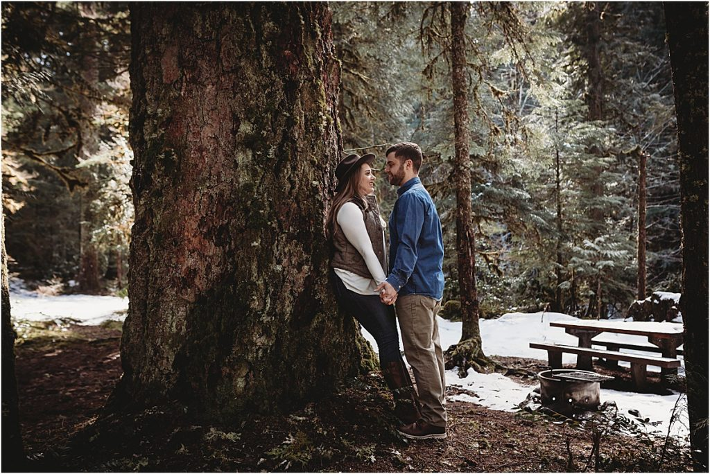 Forest engagement photo session