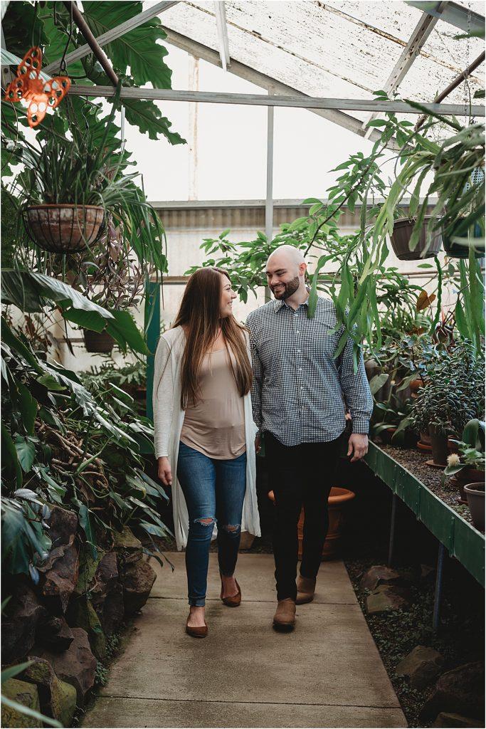 Greenhouse Engagement Photo