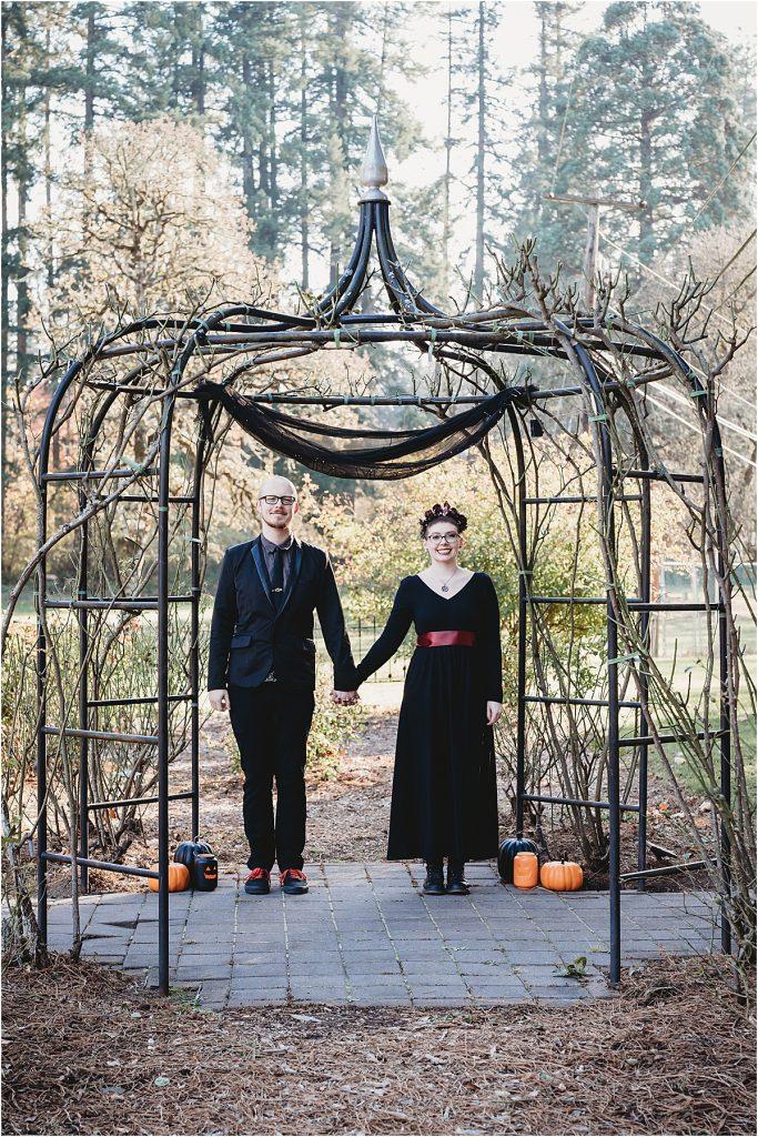Halloween elopement