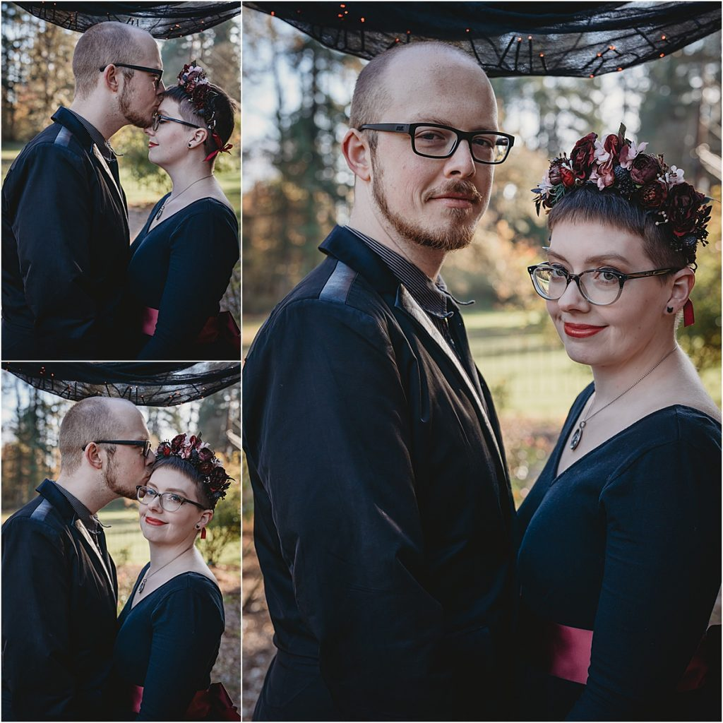 Halloween intimate wedding