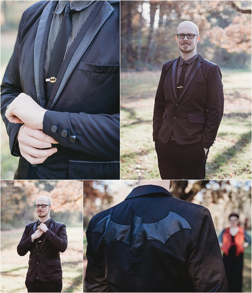 Batman groom suit
