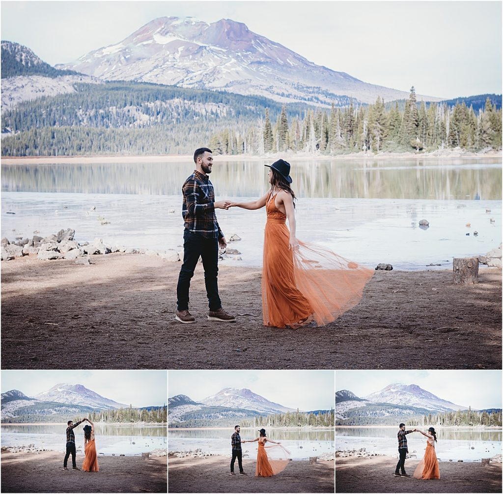 Dancing at Sparks Lake