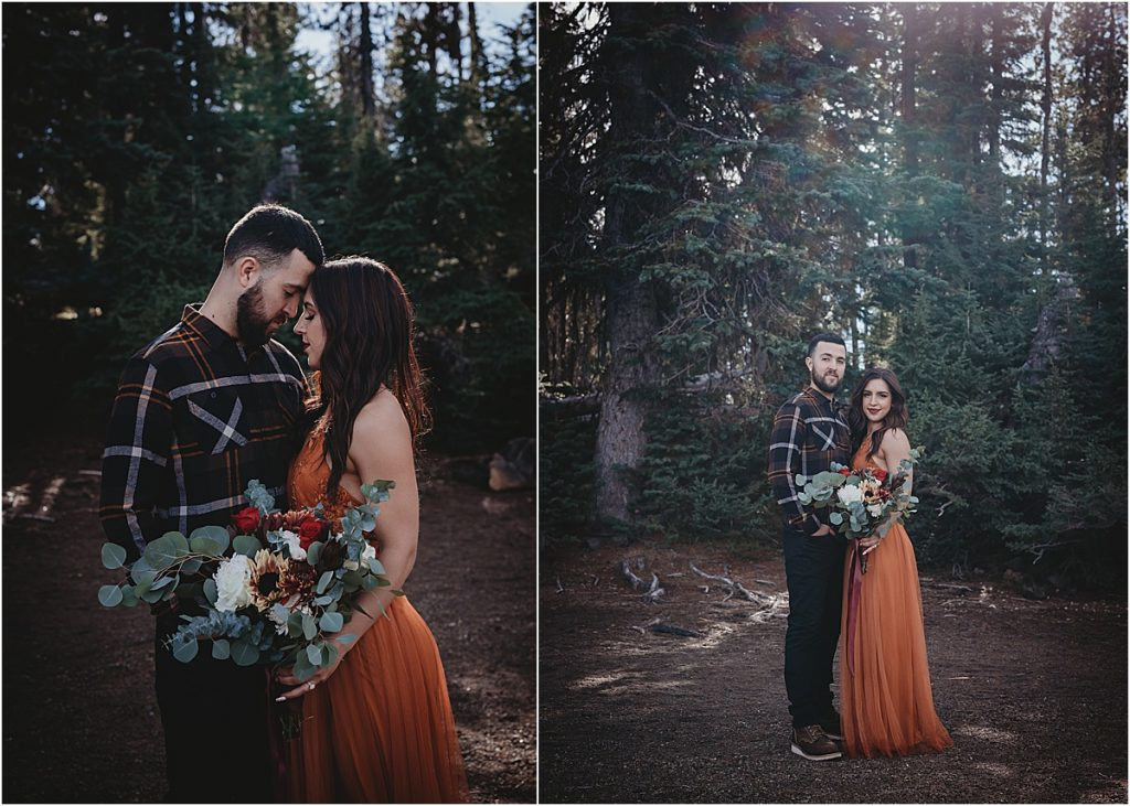 Engagement session at Sparks Lake