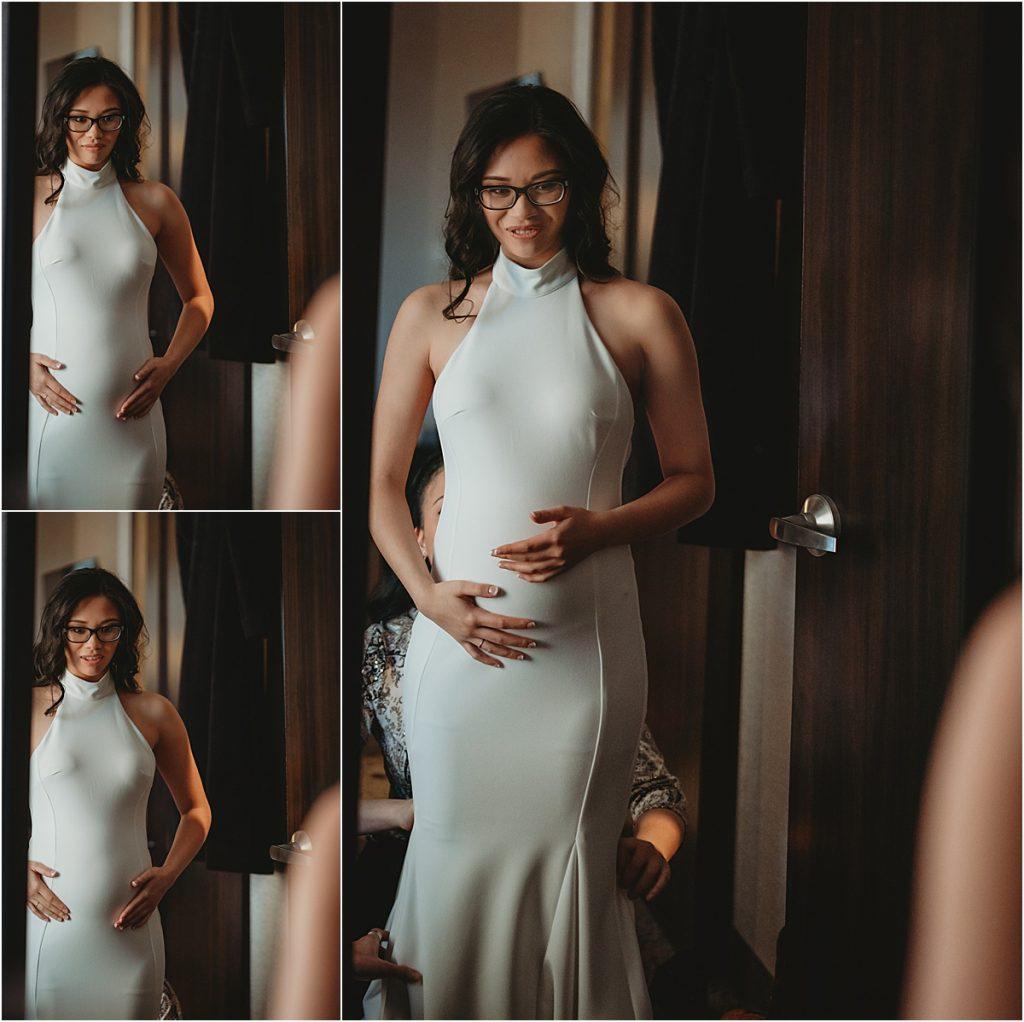 Pregnant bride