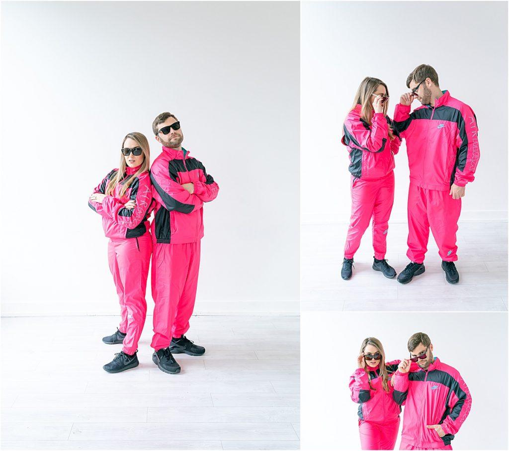 Pink jumpsuits