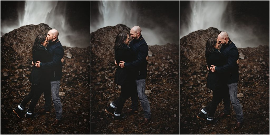 Latourell Falls engagement session