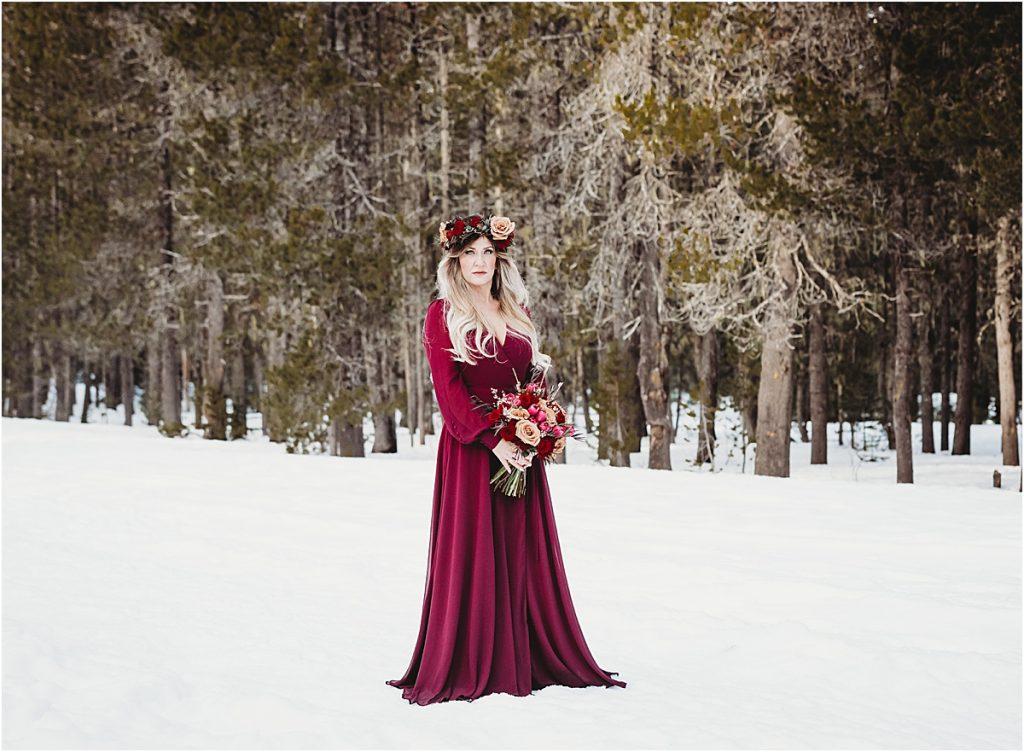 Oregon snow elopement