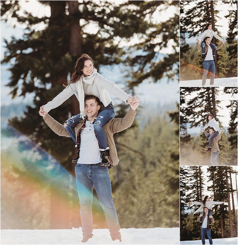 couples snow portraits