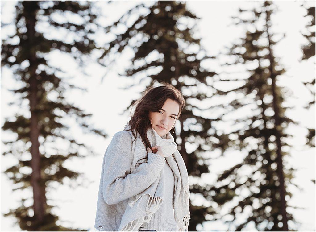 Portrait session Snow