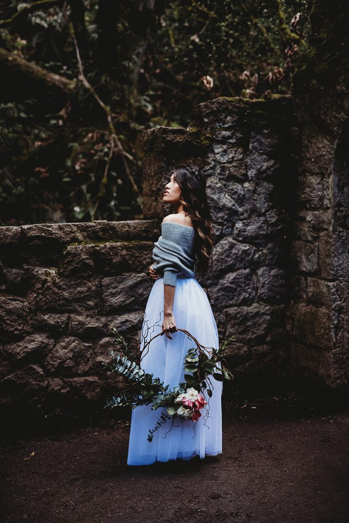 styled shoot in forest park