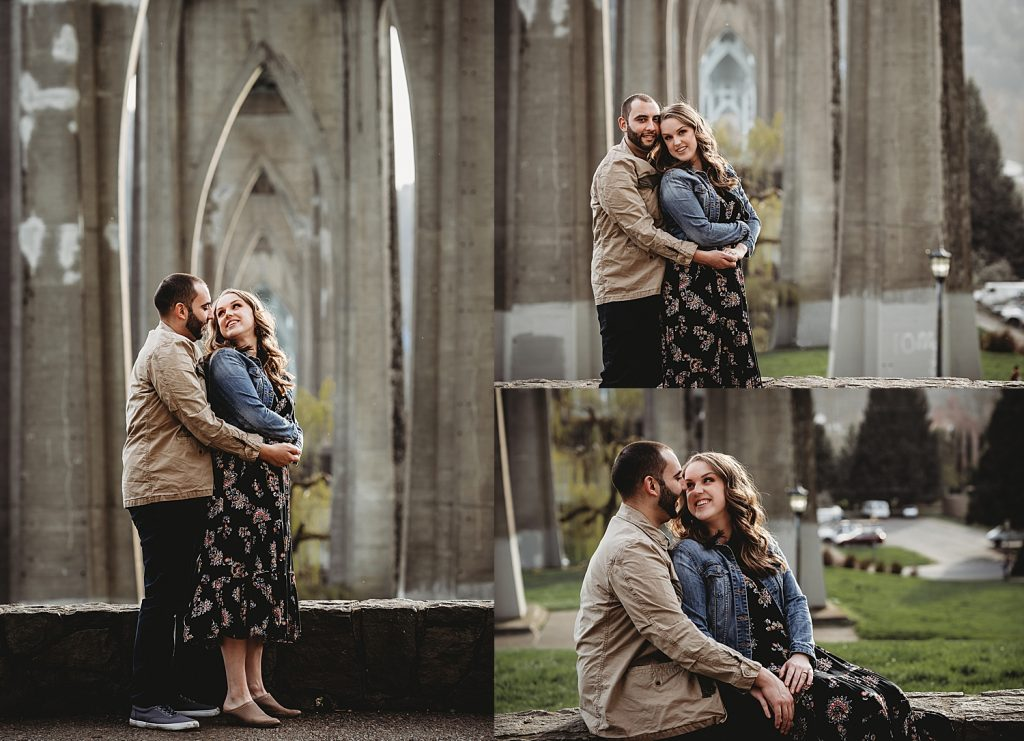 Cathedral Park engagement session